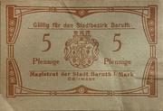 5 Pfennig (Baruth) – avers