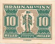 10 Heller (Braunau) -  revers