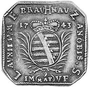 1/2 Thaler - (Monnaie obsidionale) – avers