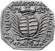 15 kreuzer (Monnaie obsidionale) – avers