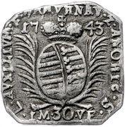 30 kreuzer (Monnaie obsidionale) – avers