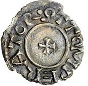 1 Denar - Otto I. with duke Burkhard II. – avers