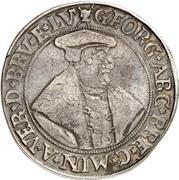 1 thaler Georg von Braunschweig – avers