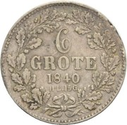 6 grote – revers