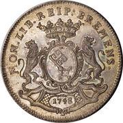 ½ thaler - Franz I (Opérations de change) – avers