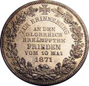 """1 thaler (""""Siegestaler"""") – revers"""
