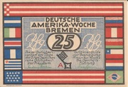 25 Pfennig (Bremen; Deutsche Amerika-Woche) – avers
