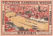 25 Pfennig (Bremen; Deutsche Amerika-Woche) – revers