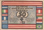 50 Pfennig (Bremen; Deutsche Amerika-Woche) – avers