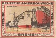 50 Pfennig (Bremen; Deutsche Amerika-Woche) – revers
