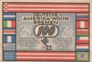100 Pfennig (Bremen; Deutsche Amerika-Woche) – avers