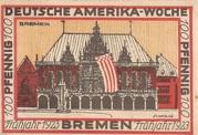 100 Pfennig (Bremen; Deutsche Amerika-Woche) – revers
