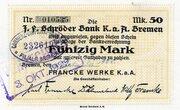 50 Mark (Francke Werke) – avers