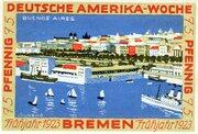 75 Pfennig (Bremen; Deutsche Amerika-Woche) – revers