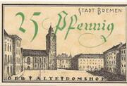 25 Pfennig (Bremen) – revers