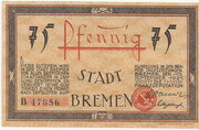 75 Pfennig (Bremen) – avers