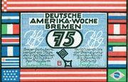 75 Pfennig (Bremen; Deutsche Amerika-Woche) – avers