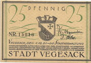 25 Pfennig (Vegesack) – avers