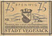 75 Pfennig (Vegesack) – avers