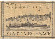 75 Pfennig (Vegesack) – revers