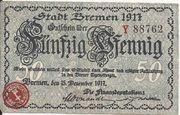 50 Pfennig (Bremen) – avers