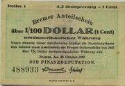 4.2 Goldpfennig - 1 US-Cent (Bremen) – avers