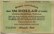 8.4 Goldpfennig - 2 US-Cents (Bremen) -  avers