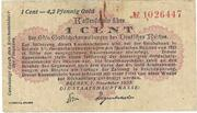 1 Cent (Bremen) – avers