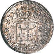 80 réis - Pedro II (petite couronne) – avers