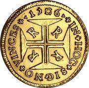 4000 réis - Pedro II – revers