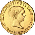6400 réis - Pedro II – avers