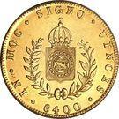 6400 réis - Pedro II – revers