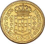 2000 réis - José I – avers
