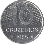 10 cruzeiros - Routes brésiliennes -  revers
