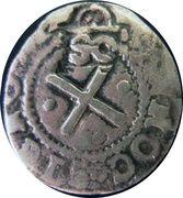 50 réis Afonso VI (contremarquée sur 2 vinténs João IV) – revers
