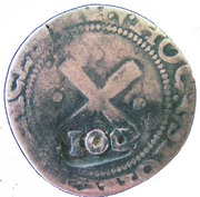 100 réis - João IV (Contremarquée sur 80 réis) – revers
