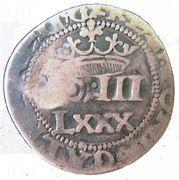 100 réis - João IV (Contremarquée sur 80 réis) – avers