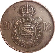 20 réis - Pedro II -  revers