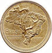 1 cruzeiro - Carte du Brésil -  avers