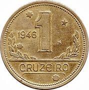1 cruzeiro - Carte du Brésil -  revers