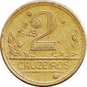 2 cruzeiros - Carte du Brésil -  revers