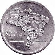 10 cruzeiros - Carte du Brésil -  avers
