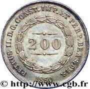 200 réis - Pedro II -  avers