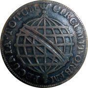 20 réis - José I (parallèles fines sur le globe) – revers