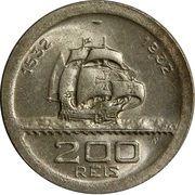 200 réis (400 ans de colonisation) -  revers