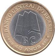 1 real (40 ans de la banque centrale) -  avers