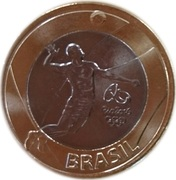 1 real (Jeux olympiques, Rio 2016 - Volleyball) -  avers