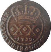 20 réis - José I – avers