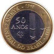 1 Real (50 ans de la Banque Centrale) -  avers