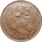 40 réis - Pedro II -  avers